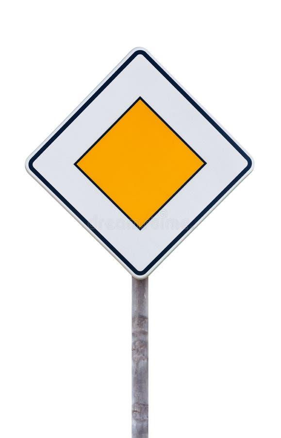 European priority road sign stock photo