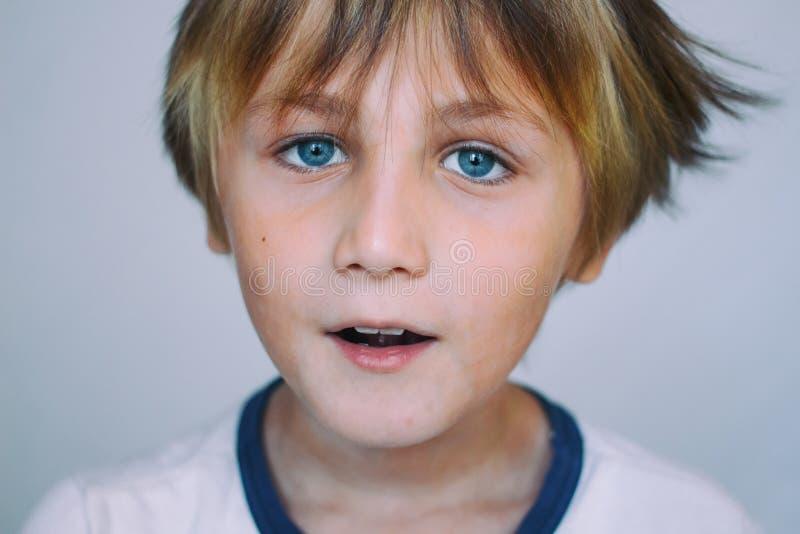 European school-age boy royalty free stock image