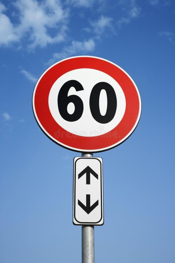 Free European Speed Limit Sign Royalty Free Stock Image - 12978286