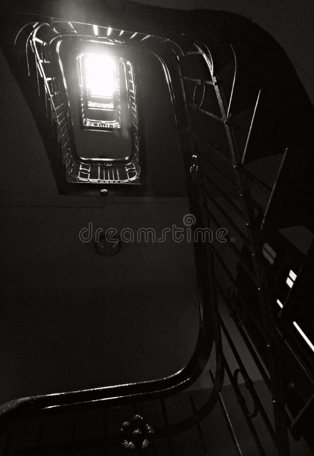European Staircase in Morning Sun stock images