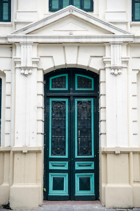 European Style Door , Vietnam royalty free stock photos