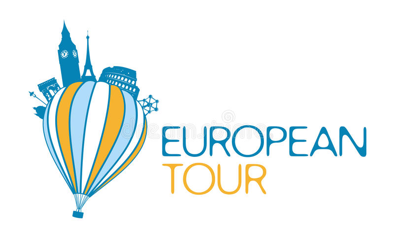 Download European tour symbol.. stock vector. Image of banner - 26017465