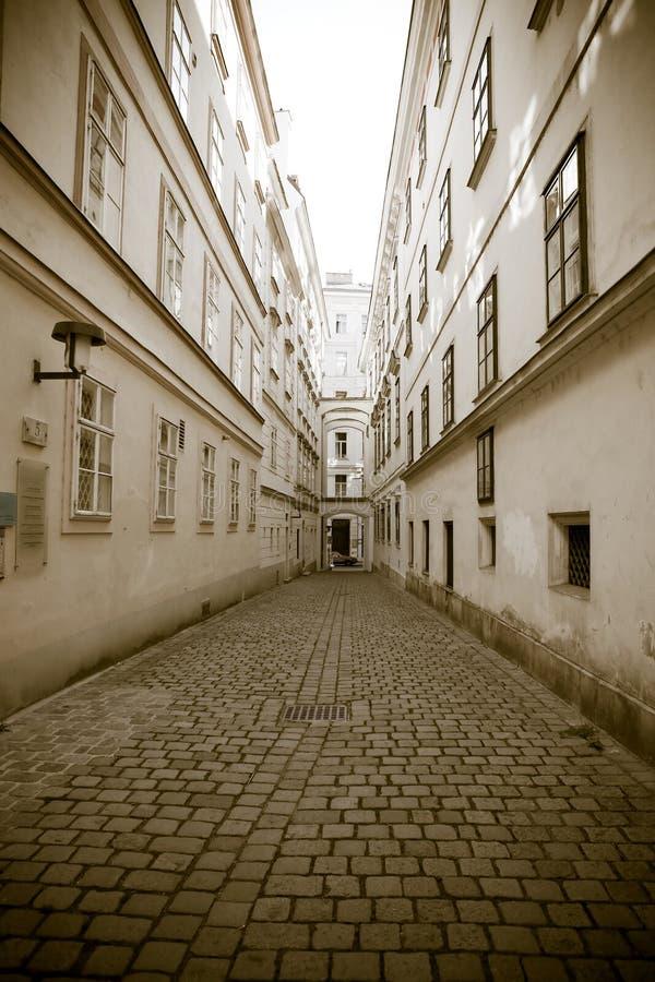 European town street royalty free stock photo