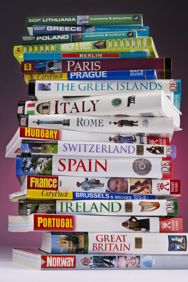 European Travel - Guide Books royalty free stock photography