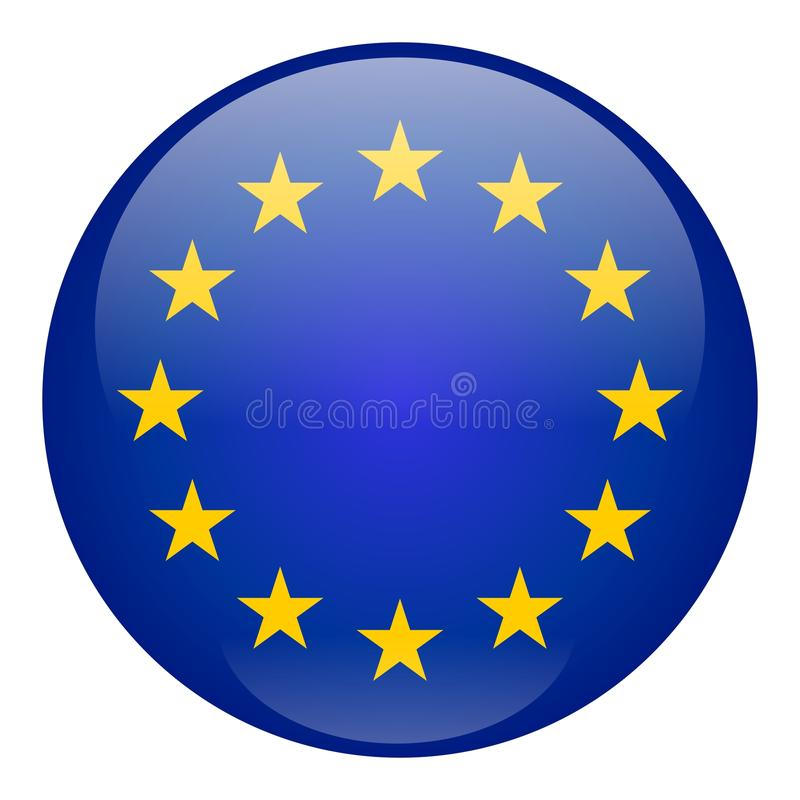Download European Union Button stock vector. Image of blue, banner - 11258460