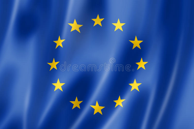 Download European union flag stock illustration. Illustration of dimensional - 25729683