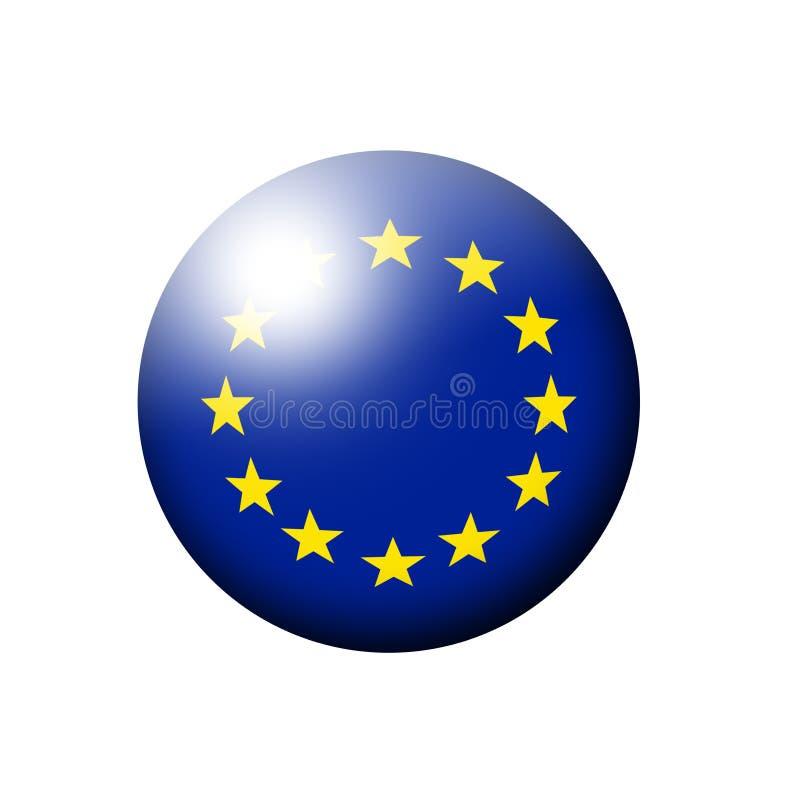 European union flag ball over white