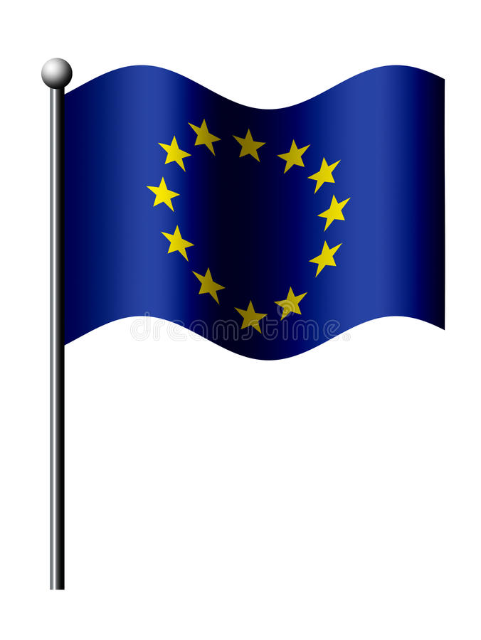 Download European Union Flag Isolated Over White Stock Illustration - Image: 27467103