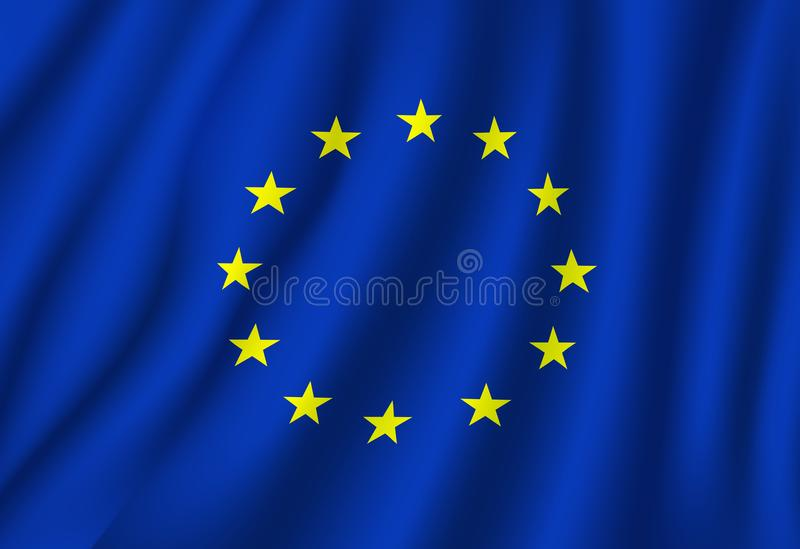 European Union vector flag national symbol stock illustration