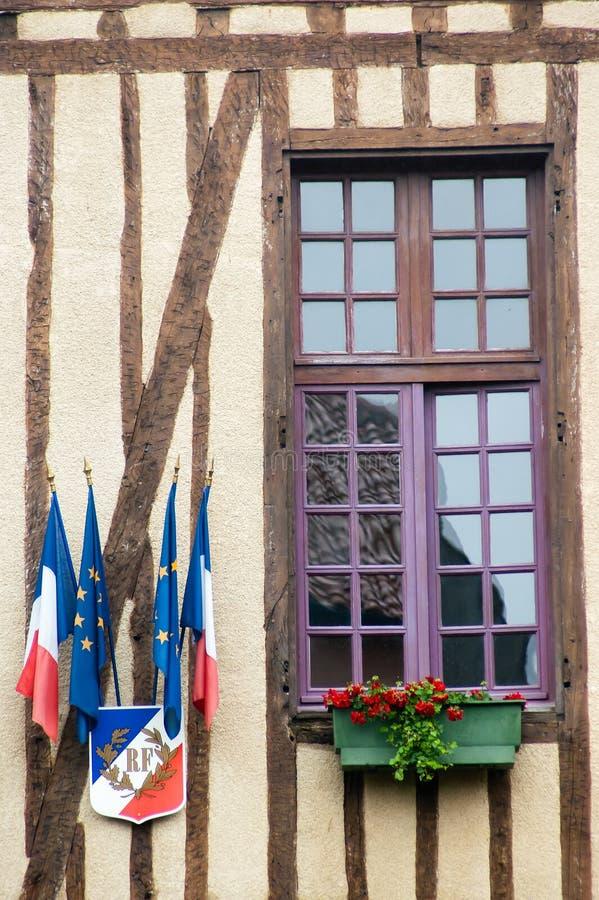The European Union and France Flags stock photos