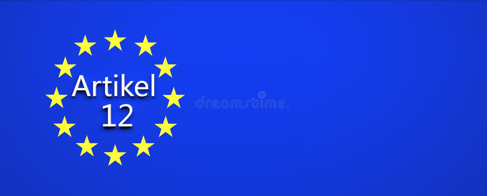European union law decision - illustration. European union law decision in house of parliament - illustration royalty free illustration