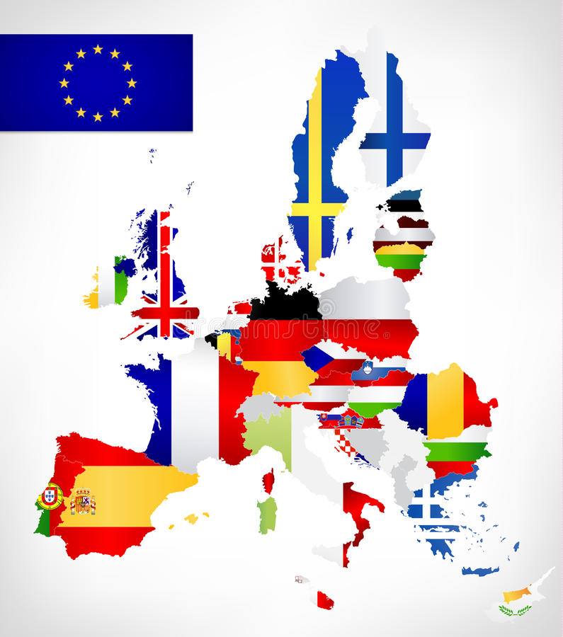 European union map with flags stock vector illustration of download european union map with flags stock vector illustration of member cyprus 53558746 gumiabroncs Images
