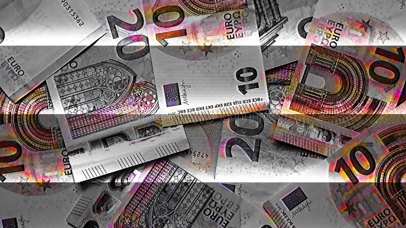 European Union Euro Paper Money Notes royalty free stock photography