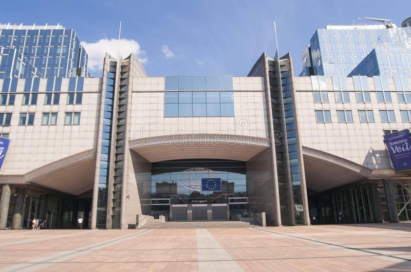 European Union Parliament building in Brussels, Belgium, Europe royalty free stock photo