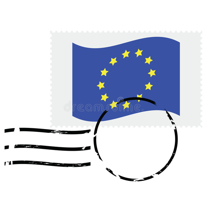 European Union Stamp Stock Photography