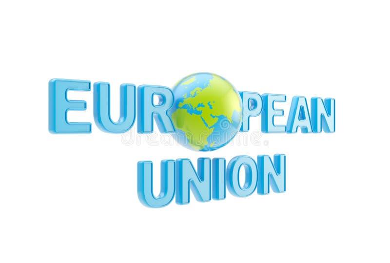 Download European Union Symbol With Earth Globe Stock Illustration - Illustration: 24603723