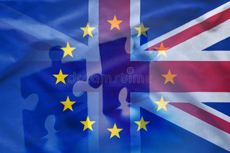 European Union and United Kingdom puzzle concept royalty free stock photos