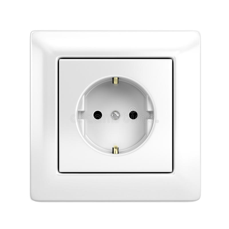European wall outlet royalty free illustration