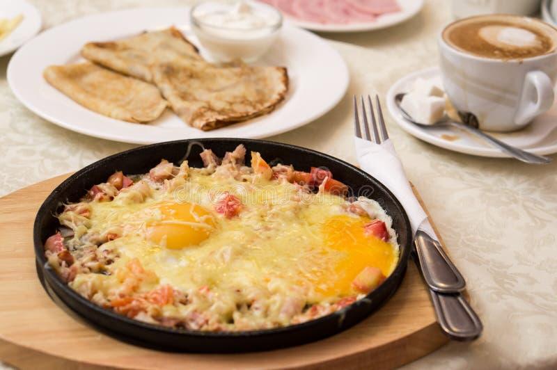 Europees continentaal ontbijt royalty-vrije stock fotografie