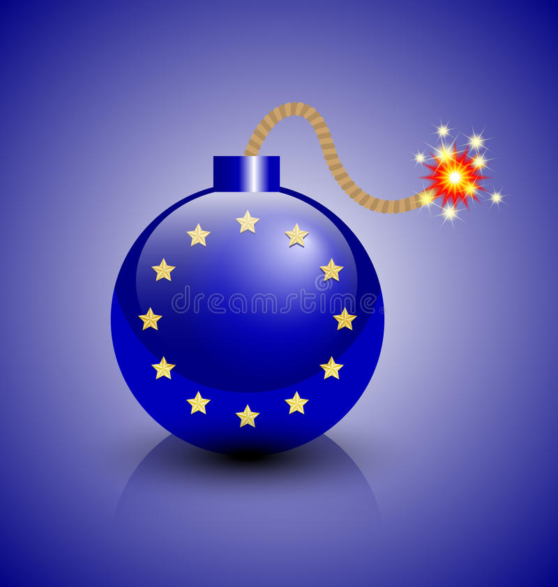Europees crisispictogram vector illustratie