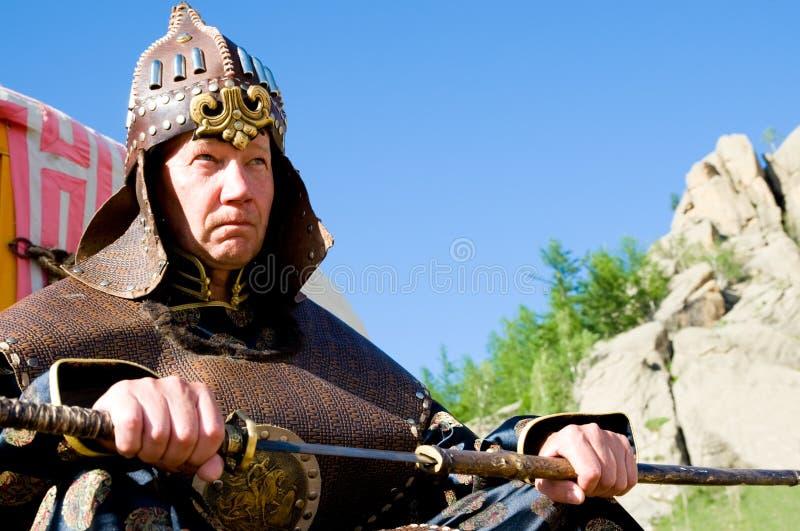 Europees dragend Mongools pantser royalty-vrije stock fotografie