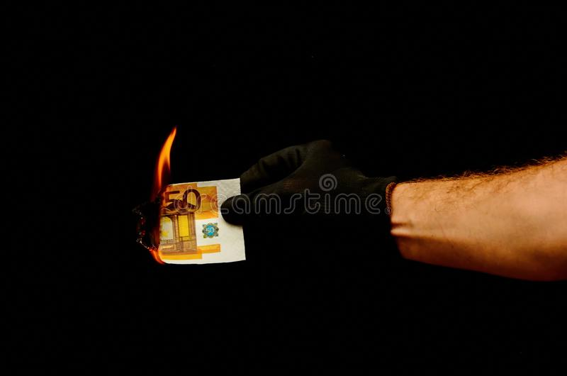 Europees Euro Geldbankbiljet royalty-vrije stock foto's