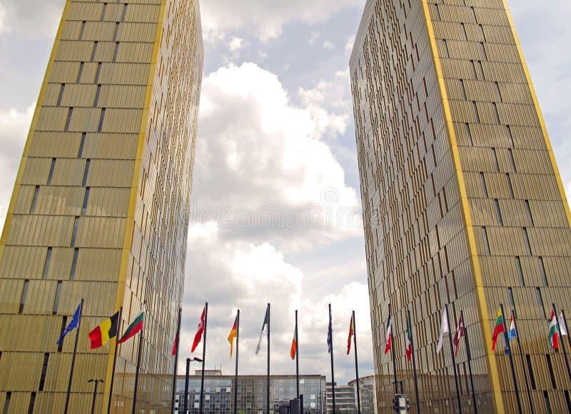 Europees Gerechtshof royalty-vrije stock foto