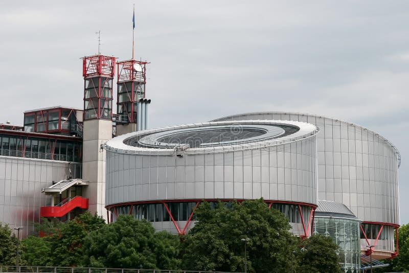 Europees Hof van Rechten van de mens in Straatsburg royalty-vrije stock fotografie