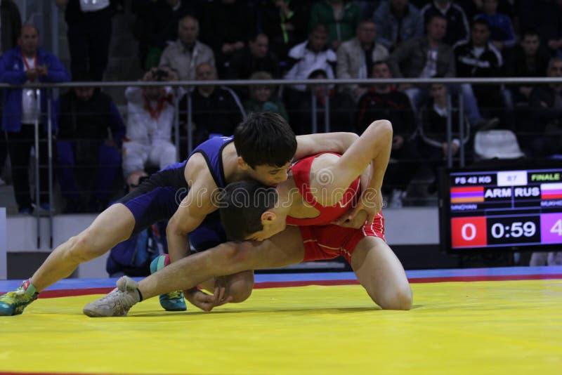 2014 Europees kadet het worstelen kampioenschap royalty-vrije stock foto