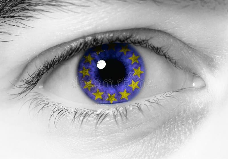 Europees oog royalty-vrije stock foto's