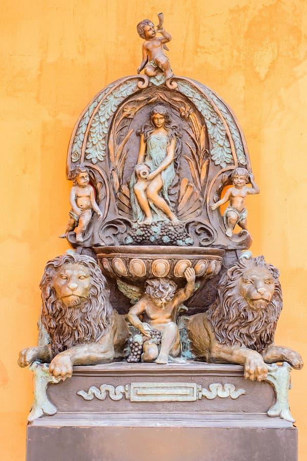 Europees stijlbeeldhouwwerk royalty-vrije stock afbeeldingen