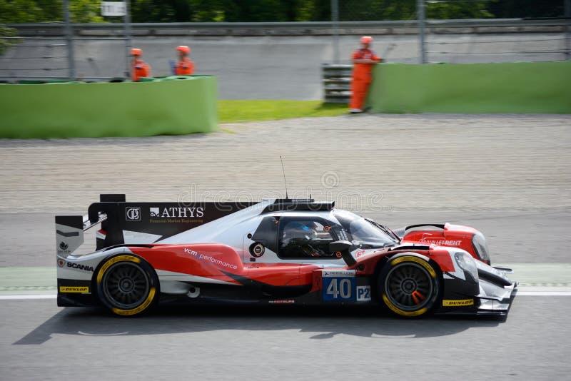 Europees van de Reeksoreca van Le Mans de Sportenprototype royalty-vrije stock foto's