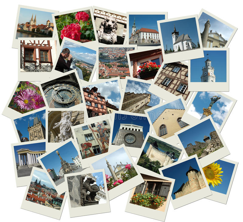 europeisk bunt för landmarkspolaroidshots royaltyfri bild