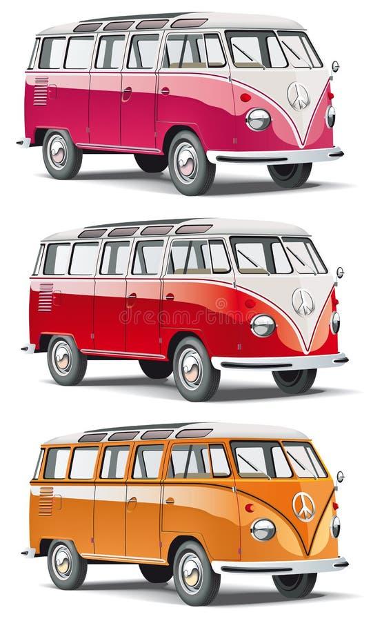 europeisk danad gammal skåpbil stock illustrationer