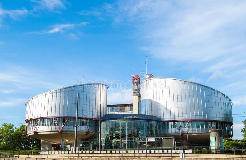 Europeisk domstol av m?nsklig r?ttighet i Strasbourg arkivbild