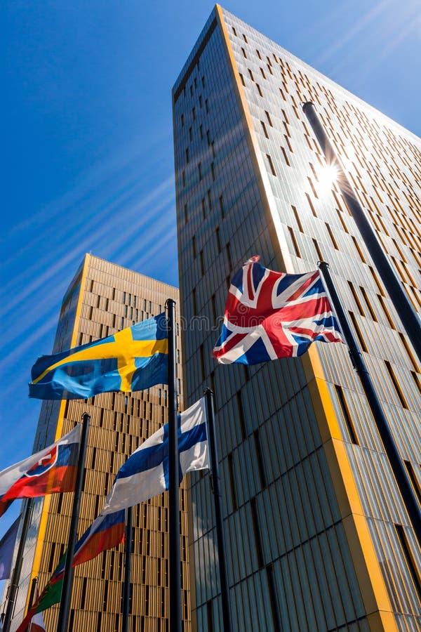 Europeisk domstol i Luxembourg royaltyfri fotografi