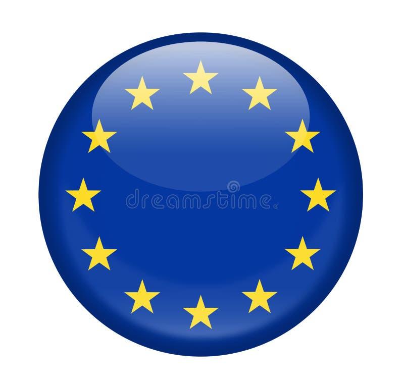 Europeisk för vektorrunda för facklig flagga symbol royaltyfri illustrationer