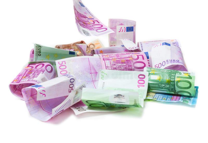 europeisk fallande pengarregnsky arkivfoton