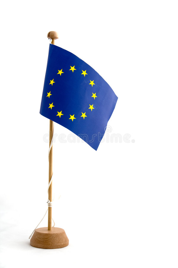 europeisk flaggaminiatureunion arkivbild