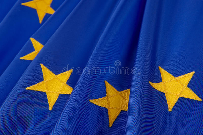 europeisk flaggaunion royaltyfri fotografi