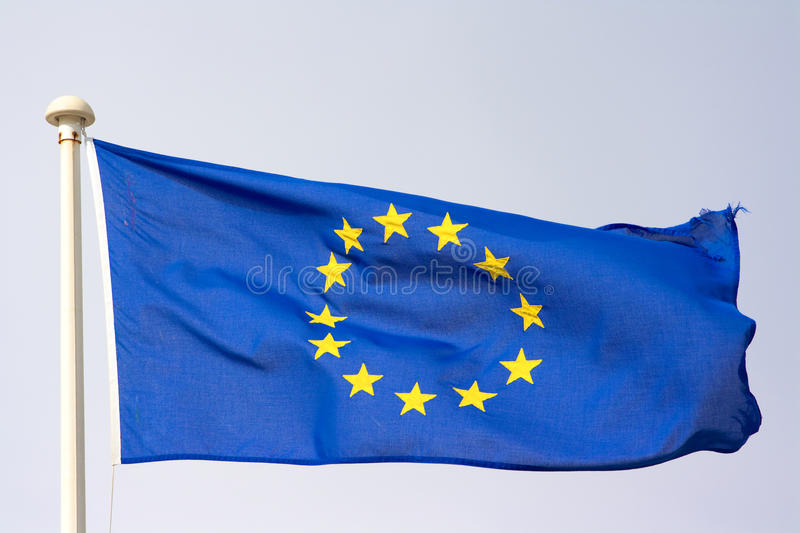 europeisk flaggaunion royaltyfria bilder