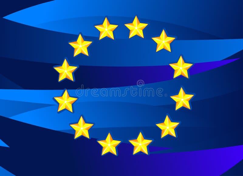 europeisk flaggaunion royaltyfri illustrationer