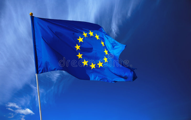 europeisk flaggaunion arkivfoton