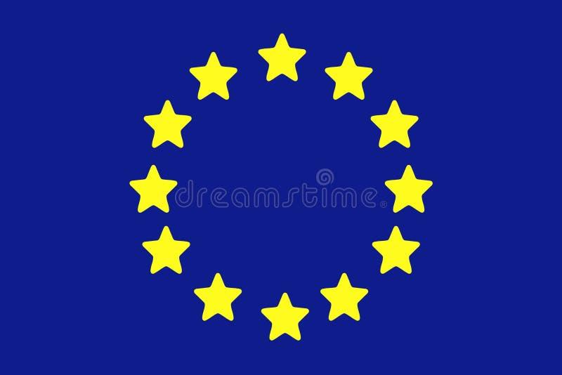europeisk flaggaunion stock illustrationer