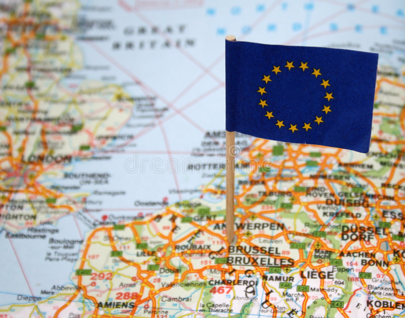 europeisk flaggaunion arkivbild