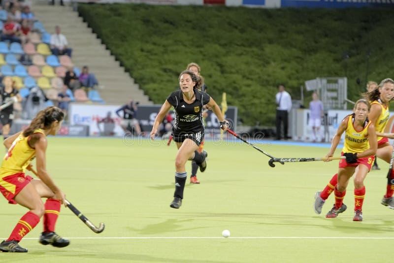 europeisk germany för 2011 kopp hockey spain v royaltyfri foto