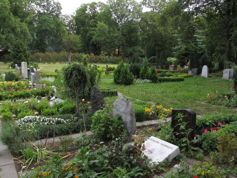 Europeisk kyrkogård arkivbilder