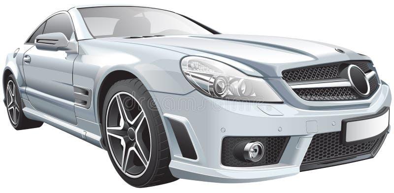 Europeisk lyxig roadster vektor illustrationer