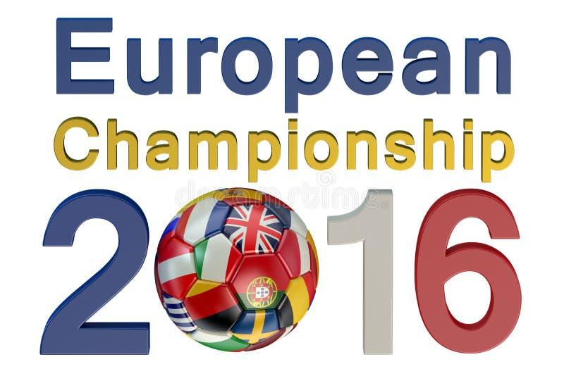 Europeisk mästerskap 2016 för fotboll stock illustrationer