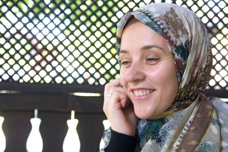 europeisk muslimkvinna arkivbild